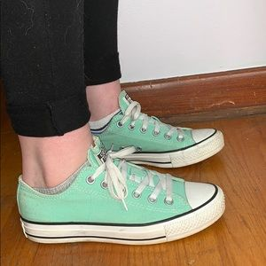 Converse Shoes - Converse All star mint sneakers. Size 7.